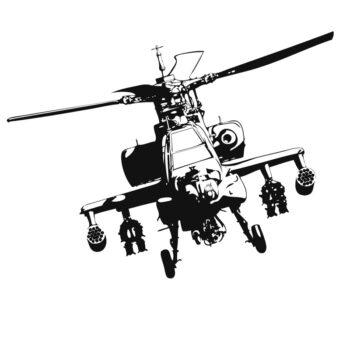 stickers hélicoptère de combat