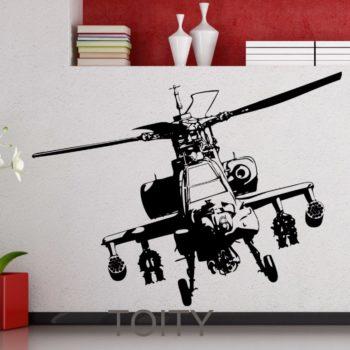 stickers hélicoptère de combat M6 deco idée cadeau