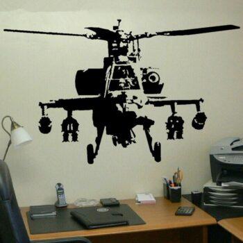 stickers hélicoptère de combat - idée cadeau