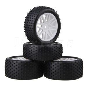 Jantes et pneus tout terrain hsp 1/10 blanche - idée cadeau