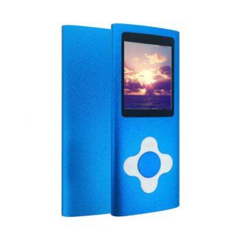 baladeur mp3 mp4 player carte micro SD bleu - idée cadeau