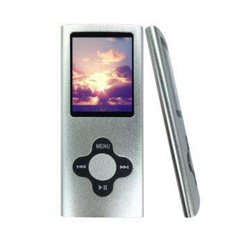 baladeur mp3 mp4 player carte micro SD gris - idée cadeau
