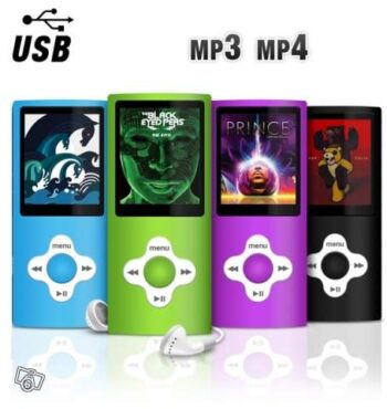 baladeur mp3 mp4 player carte micro SD - idée cadeau
