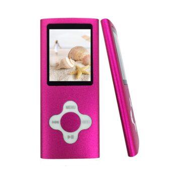 baladeur mp3 mp4 player carte micro SD rose - idée cadeau