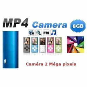 Baladeur mp3 mp4 8 go appareil photo - idée cadeau