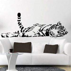 Sticker mural tigre ou autre animal disponible sur boutique idée cadeau