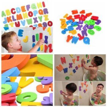 Alphabet et chiffres de bains en idée cadeau pas cher