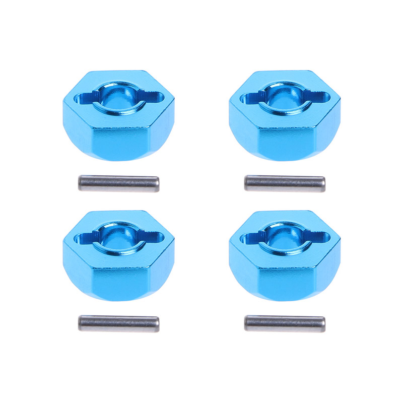 Hexagones de roues HSP alu 12mm et goupilles