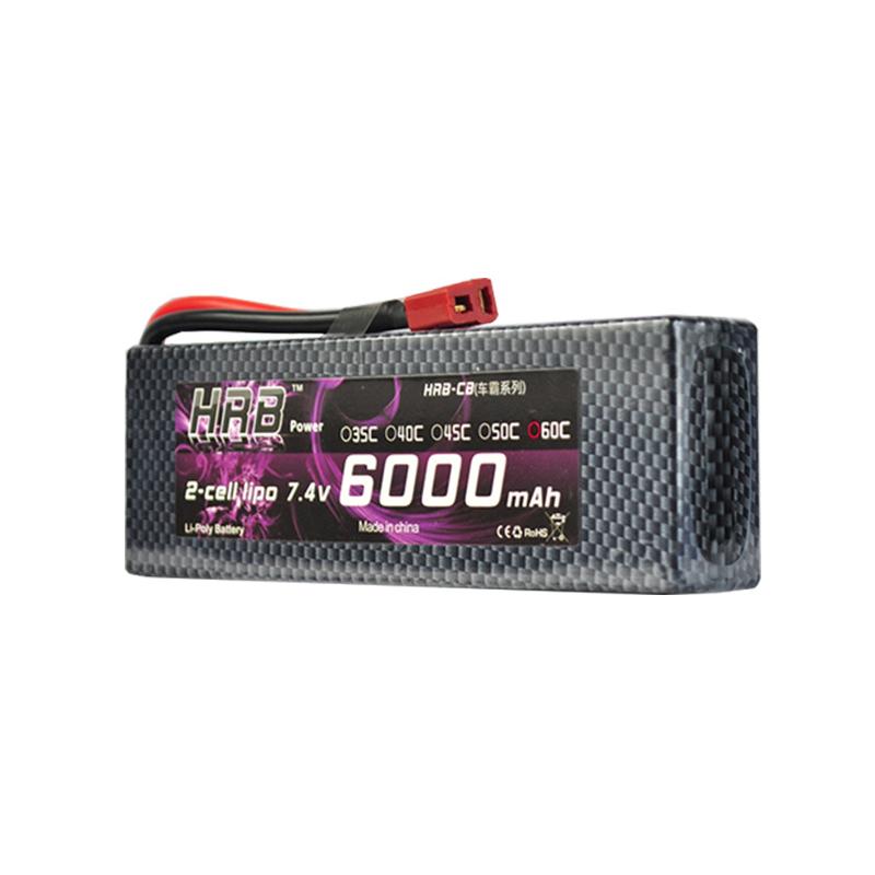 Batterie Lipo 2S 7,4V 6000 mAh 60C