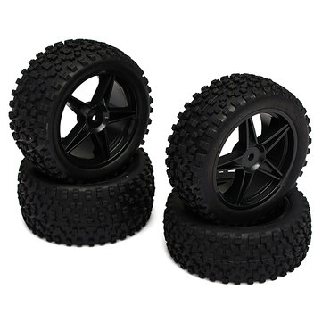 Jantes et pneus tout terrain pour voiture 1-10 hsp
