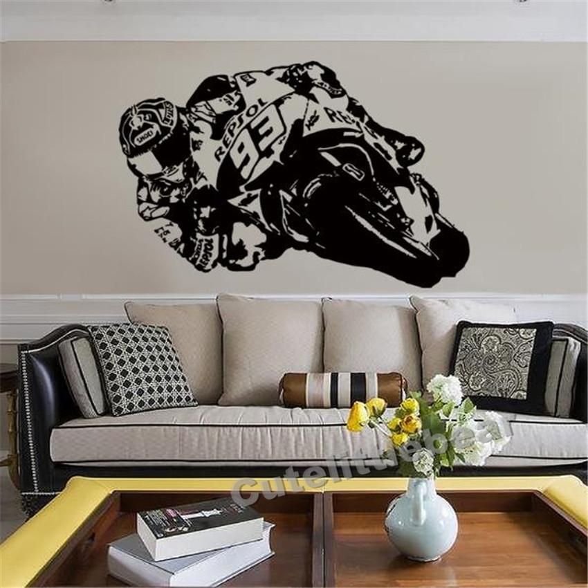 Stickers murales de moto pour la decoration de votre interieur
