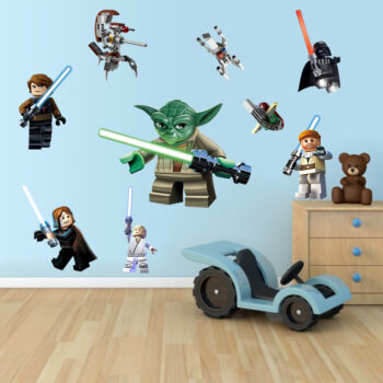 Stickers muraux Yoda lego M6 D&CO décoration pour chambre pas cher