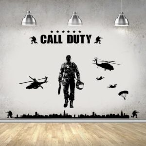 sticker mural call of duty